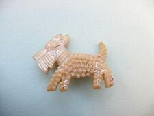 Dog Brooch / Retro Pin Celluloid White Vintage 1930s Westland Terrier