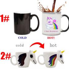 Novelty Unicorn Heat Colour Changing Mug Ceramic Sensitive Magic Coffee Cup  AC