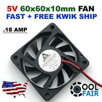 60mm 10mm 5V Computer Cooling Case Fan 6010 PC CPU 60x60x10mm 2-Pin