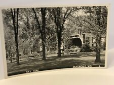 Vintage 1950s City Park Menomonie Wisconsin RPPC Phot Postcard