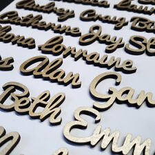 GOLD 25mm TALL THICK 4mm Wooden Wedding Place Name Place Setting Table LASER CUT