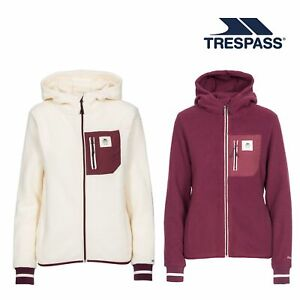 Trespass Womens Fleece Jacket with Zip Female Walking Casual Hiking Rebola