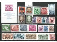 DDR  1954   postfrisch  mit Block komplett