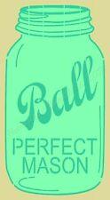 "Stencil~Item 7597o~6""x12""~ Ball Mason- Primitive Mason Jar Stencil- Stencils"