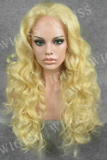 Fashion Lace Front Wig Long Blonde Wavy Hair Synthetic Heat-Resistant Fiber Wig