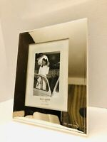 "Kate Spade Lenox Silverplate Engraved Mr. And Mrs. 5"" X 7"" Picture Photo Frame"