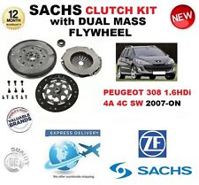 FOR PEUGEOT 308 4A 4C SW 1.6 HDi CLUTCH KIT 2007-ON SACHS KIT w FLYWHEEL & BOLTS