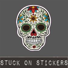 Sugar Skull Sticker Mexican Day of Dead Decal Laptop PC iPad Skateboard Phone
