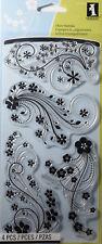 INKADINKADO MODERN FLOWER FLOURISH Clear Stamps Cardmaking Scrapbooking Craft