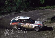 MIKI Biasion firmato 12x8, LANCIA DELTA INTEGRALE 16V, Rallye Sanremo 1991