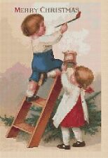 Navidad cross stitch chart-Navidad Niños-no 157... tsg37