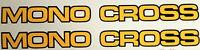 "YAMAHA TDR 250 XT600 YZ TT IT SWINGING ARM ""MONO-CROSS"" DECALS"