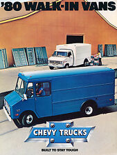 1980 Chevrolet Walk-in Van Original Chevy Sales Brochure Catalog