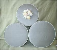 Fabric Covered Hat Boxes,Sage Green, Dupionni Silk,  Roses & Pearls