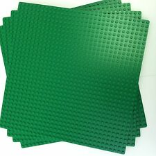 "LEGO 626 (lot of 4) Green Baseplate (10""x10"") 32x32 studs New Free US Shipping"