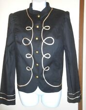 Nicole by Nicole Miller Ladies Embellished Jacket Black with Gold Trim 12 NWT