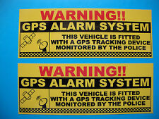 4 X GPS Tracking Warning Adesivi TRUCK VAN BICI SICUREZZA Decalcomanie Auto allarmi