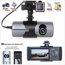 Dual Car Camera GPS logger Dash HD DVR Video Vehicle Camera Recorder Crash Cam