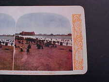 Atlantic City New Jersey On the Beach Stereo Card