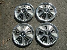 Factory original 1966 Ford Mustang 14 inch hubcaps wheel covers