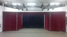 Stage Drape Theatre In Burgundy 20m X 2.5m