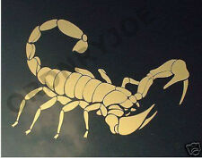 Large metallic gold Scorpion car decal/sticker /graphic