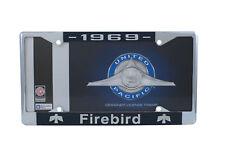 1969 Pontiac Firebird Chrome License Plate Frame with 4 Hole Mount