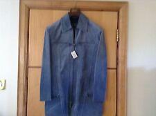 Gianni Versace - Versus Suede Leather winter man blue coat jacket