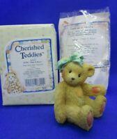 """Cherished Teddies - JACKI """"Hugs & Kisses"""" - Sister Bear Figurine #950432"""
