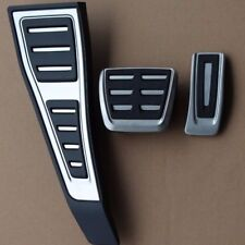 Genuine Audi New Q5 (MK2) Aluminium Pedal Covers + Footrest for RHD & Auto