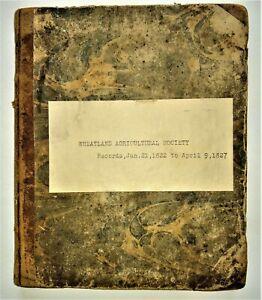 RARE HANDWRITTEN AMERICAN AGRICULTURE MANUSCRIPT-Monroe County NY-History-1822