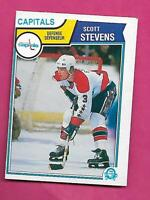 1983-84 OPC # 376 CAPITALS SCOTT STEVENS ROOKIE EX-MT CARD (INV# C9691)