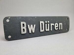 Lokschild Betriebswerk Bw Düren Eisenbahnschild aus Nachlass !