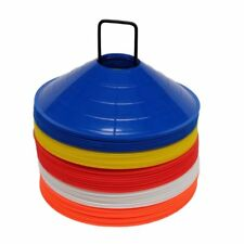 Set of 50 Football Marker Cones - 50 Spacemarkers with carry stand