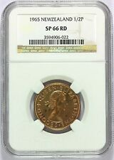 1965 New Zealand 1/2 Half Penny PROOFLIKE Coin -  NGC SP 66 RD - KM# 23.2