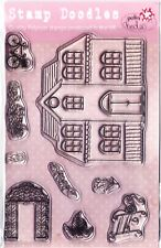 GAZEBO NEIGHBOURS - A6 Clear Stamp Set - Polkadoodles