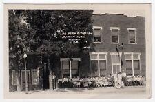 1930 MARION SOUTH DAKOTA RPPC Real Photo Postcard Hotel DR DERK TIESSEN SD Sodak