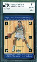 1998-99 Upper Deck #320 Dirk Nowitzki Rookie Card BGS BCCG 9 Near Mint+