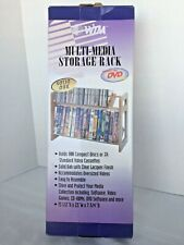 Media Storage Rack DVD/CD Shelf Organizer Cabinet Tower Stand Display Solid Oak