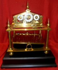 5 Finial William Congreve Rolling Ball Clock With Base & Key