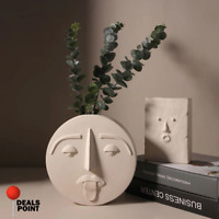 Nordic Human Face Modern Flower Vase Face Decor Portrait Sculpture Pot Planter