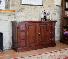La Roque Premium Solid Mahogany Dark Wood Large Sideboard with Drawers