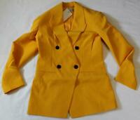 Asos Women's Pop Waisted Suit Blazer Jacket TM8 Yellow Size US:6 UK:10 NWT