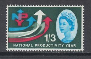 Great Britain Sc 389p MNH. 1962 1sh6p National Productivitiy Year, VF