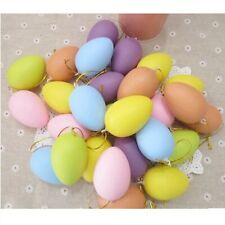 12 Pcs Easter Color Painting Egg Plastic Hanging Children Eggs Toys Party Decor
