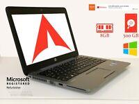 "12.5"" HD HP EliteBook 820 G2 | i5-5300U 2.3GHz  500GB HDD 8GB RAM Win 10 Pro"