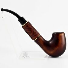"7.1"" Pear smoking pipe with embossed leather for 9mm filter 
