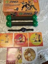 ZUMBA FITNESS KIT 6 WORKOUTS ON 4 DVDS PLUS 2 TONING STICKS BODY SHAPING & BOX