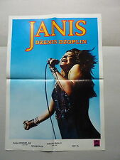 JANIS JOPLIN the way she was (1974/CANADA) ORIGINAL YUGOSLAVIAN MOVIE POSTER