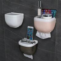 Wall Mounted Toilet Roll Holder Drawer Bathroom Tissue Paper Box Rack Waterproof